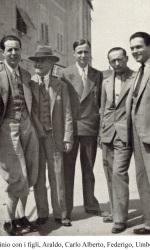 Carlo-Alberto-Cappelli-con-il-padre-Licinio-e-i-fratelli-Araldo-Federigo-e-Umberto
