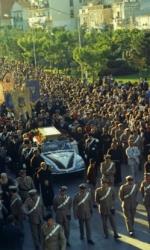 Un'immagine dei funerali di Padre Pio che si tennero il 26 settembre. Si colcola che vi abbiano partecipato 100 mila persone