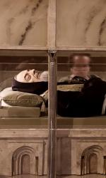 L'urna con il corpo di Padre Pio. Nato il 25 maggio 1887, Padre Pio +¿ morto il 23 settembre 1968