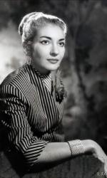 Maria Callas al tempo del matrimonio con Giovanni Battista Meneghini