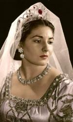 Maria Callas in abiti di scena