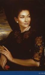 Maria Callas in un ritratto del maestro Ulisse Sartini, conservato al Nuovo Teatro della Musica di Atene