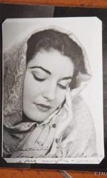 _Maria Callas in una foto giovanile, con la sua dedica autografa al marito Giovanni Battista Meneghini