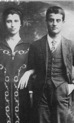 Pier Giorgio Frassati con la sorella Luciana nel 1925