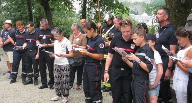 Les sapeurs-pompiers rassemblés dans la foi