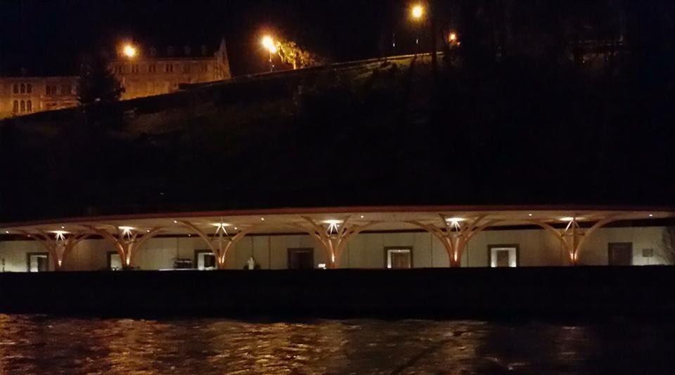 Illuminazione notturna nuove piscine lourdes u volontari di lourdes